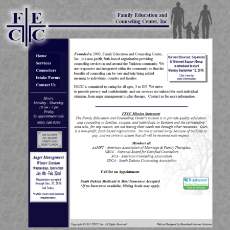 Family Education & Counseling Center Website