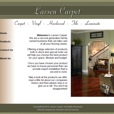 Larsen Carpet Website
