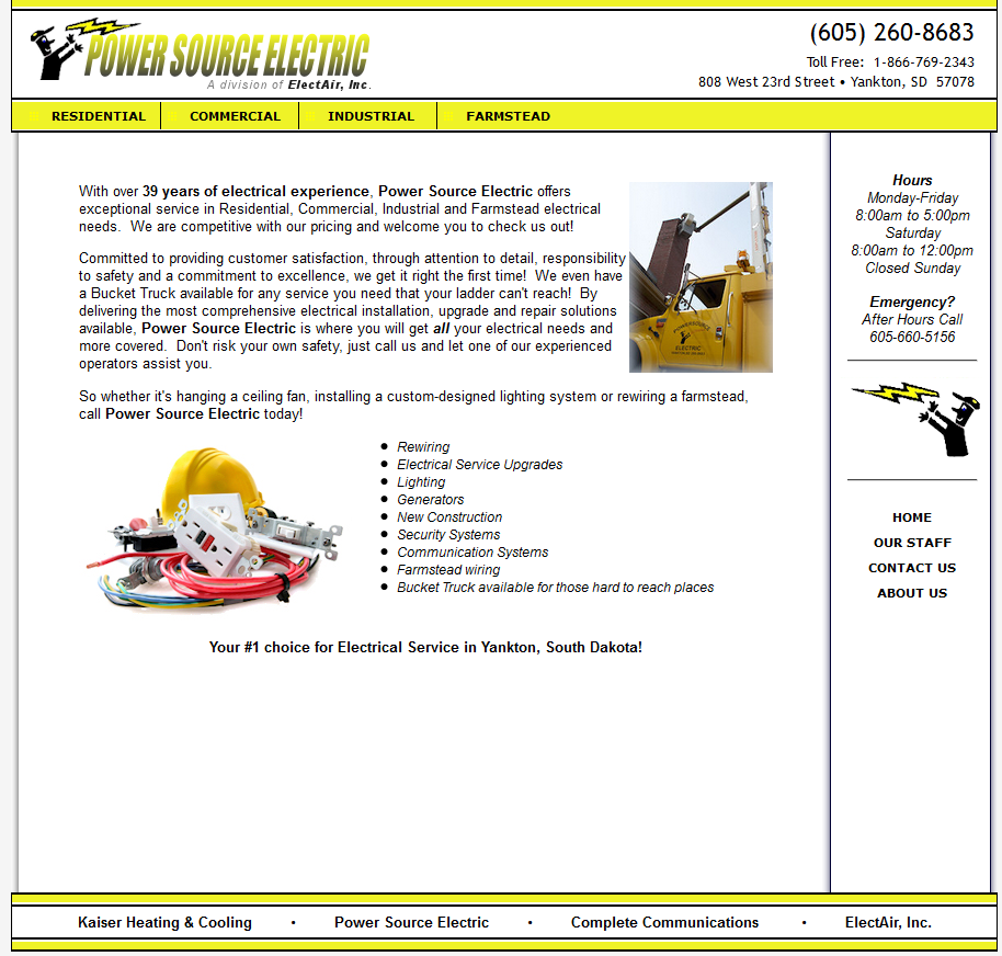 Power Source Electric Website