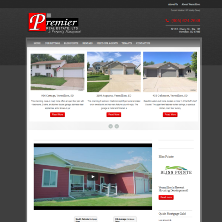 Premier Real Estate LTD Website
