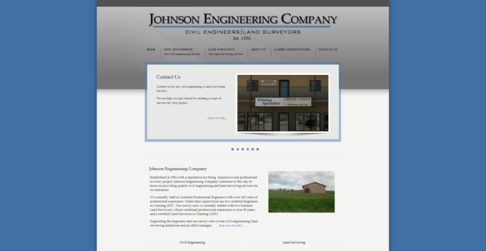 Johnson Engineering Company Website