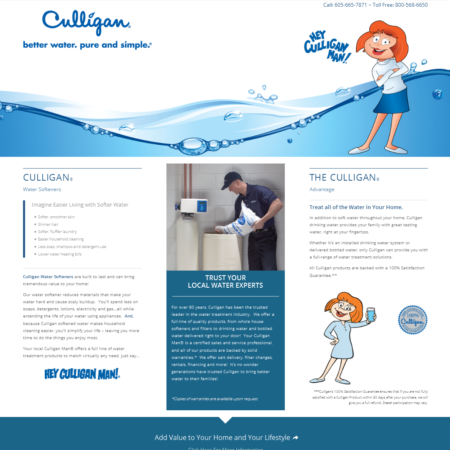 Adamson Water Conditioning Landing Page