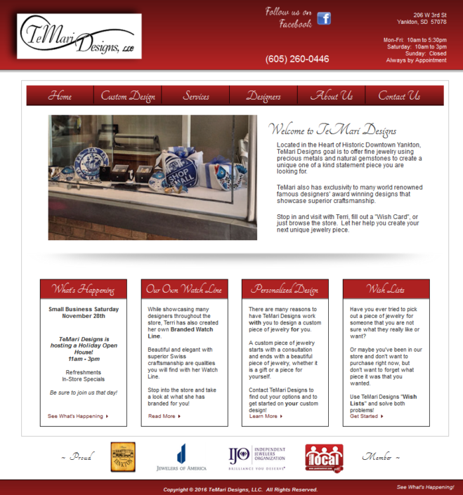 TeMari Designs, LLC Website