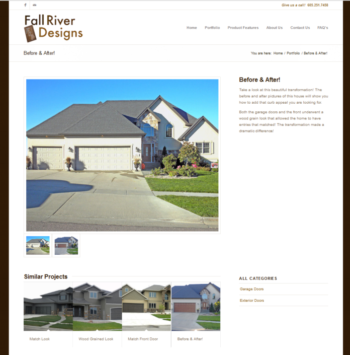 Fall River Designs Website
