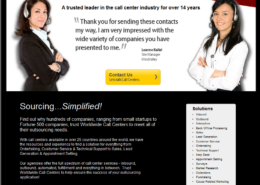 Call Centers Landing Page