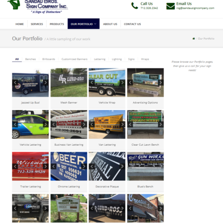 Sandau Bros Sign Company Website