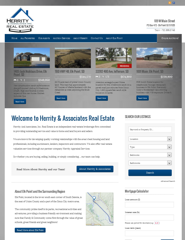 Herrity Real Estate Website