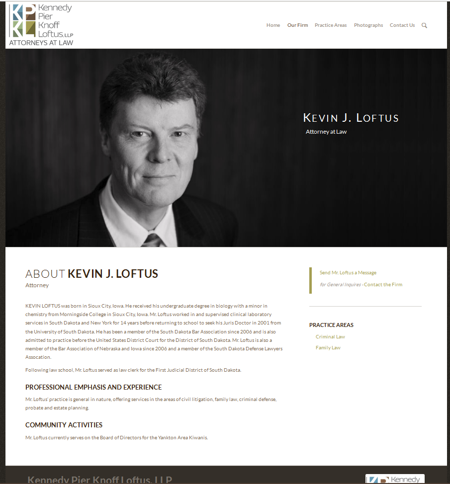Kennedy Pier Knoff Loftus, LLP Website