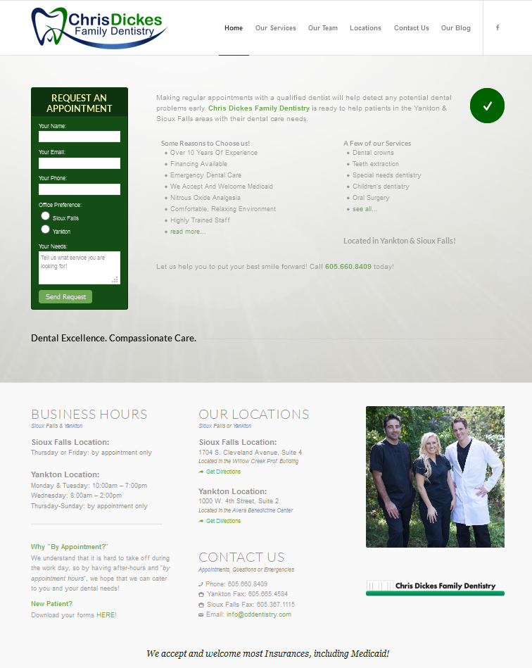 Chris Dickes Family Dentistry Website