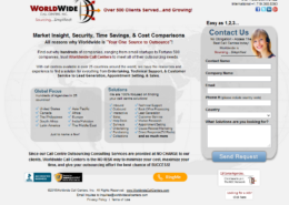 Call Centres Landing Page