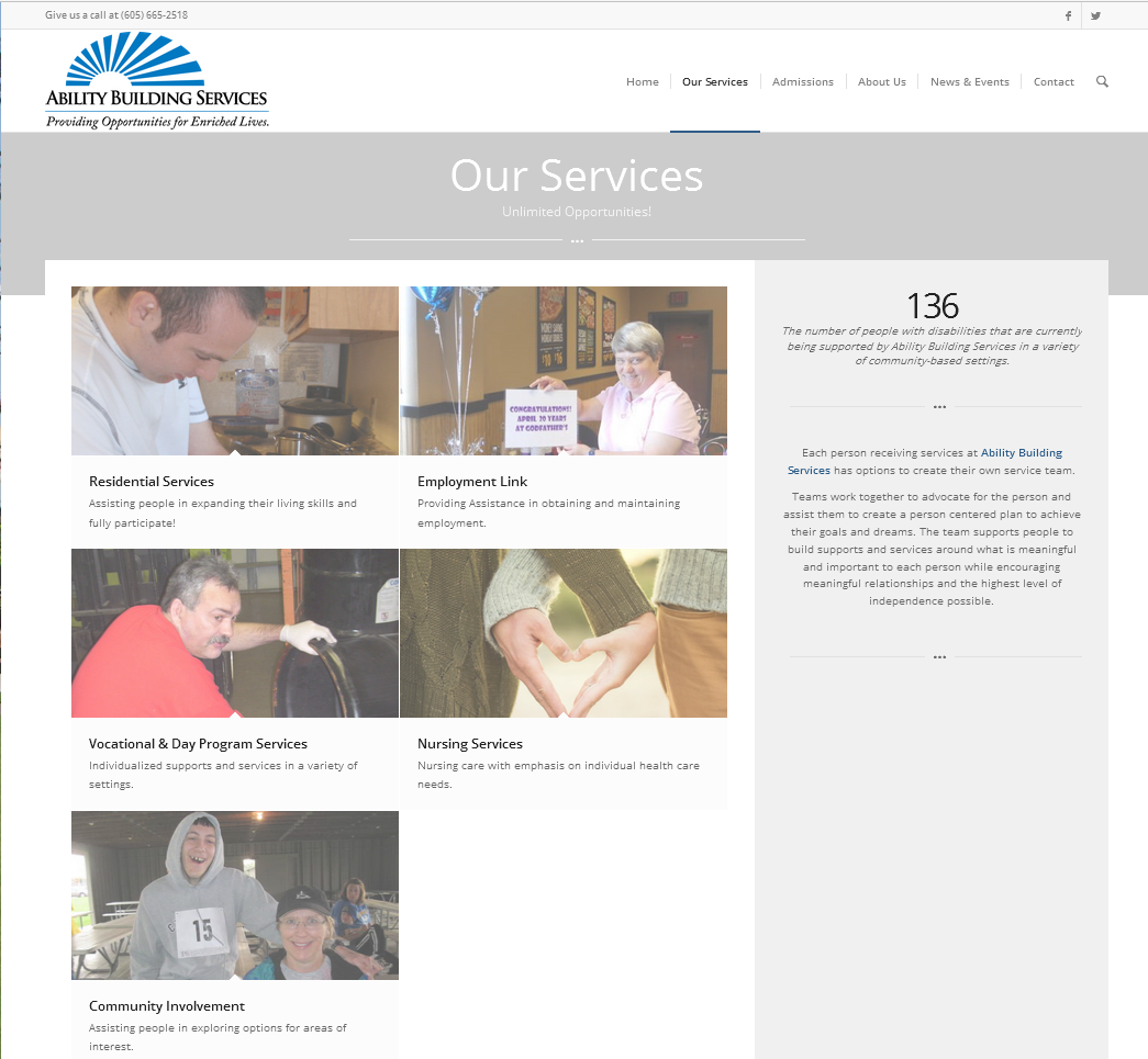 Ability Building Services Website