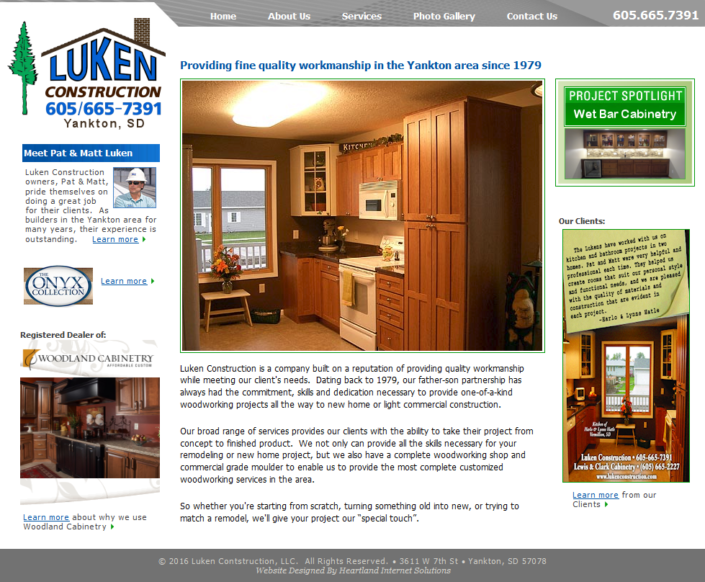 Luken Construction Website