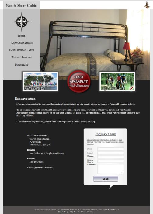 North Shore Cabin Website