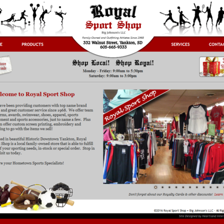 Royal Sport Shop Website