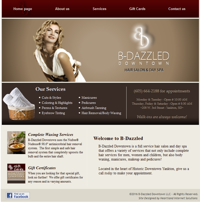 B-Dazzled Website