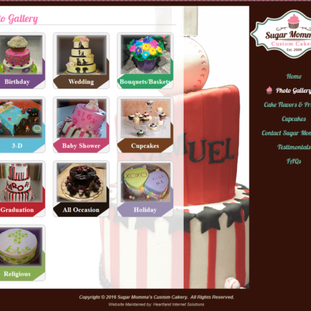 Sugar Momma's Custom Cakery Website